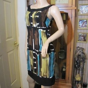 Connected Apparel Black & Brown Dress size 12